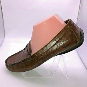 Born boc 8,5 Brown Faux Alligator Loafers Shoes